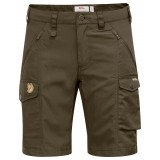 Fjällräven Nikka Shorts Curved dameshorts, Nikka Shorts Curved dameshorts, Dark Olive