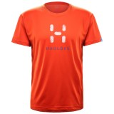 Haglöfs GLEE TEE MEN herre-T-shirt, GLEE TEE MEN herre-T-shirt, Habanero