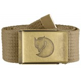 Fjällräven Canvas Brass Belt 4 cm bælte, Canvas Brass Belt 4 cm bælte, Sand