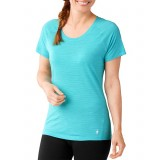 Smartwool Women's Merino 150 Baselayer Pattern Short Sleeve, Women's Merino 150 Baselayer Pattern Short Sleeve, LIGHT CAPRI