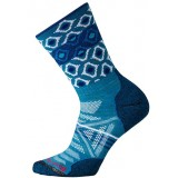Smartwool Women's PhD Outdoor Light Pattern Crew damestrømpe, Women's PhD Outdoor Light Pattern Crew damestrømpe, Glacial Blue