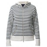 Holebrook Inger Hood WP dametrøje, Inger Hood WP dametrøje, Off White/Navy