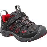 Keen OAKRIDGE LOW WP W/Velcro® børnesko, OAKRIDGE LOW WP W/Velcro® børnesko, BLACK/TANGO RED