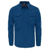 The North Face SEQUOIA SHIRT L/S Men herreskjorte, SEQUOIA SHIRT L/S Men herreskjorte, Shady Blue