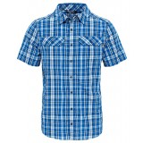 The North Face PINE KNOT SHIRT S/S MEN herreskjorte, PINE KNOT SHIRT S/S MEN herreskjorte, MONSTER BLUE PLAID