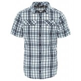 The North Face PINE KNOT SHIRT S/S MEN herreskjorte, PINE KNOT SHIRT S/S MEN herreskjorte, ASPHALT GREY PLAID