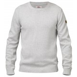 Fjällräven Övik Crew Sweater herrestrik, Övik Crew Sweater herrestrik, Light Grey