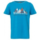Me°ru' Veria T-shirt Kids børne-T-shirt, Veria T-shirt Kids børne-T-shirt, Methyl Blue