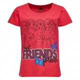 LEGO Wear Girl's T-shirt S/S Friends, Girl's T-shirt S/S Friends, Coral Red
