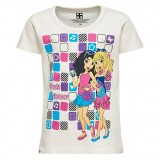 LEGO Wear Girl's T-shirt S/S Friends, Girl's T-shirt S/S Friends, Off White