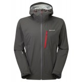 Montane Minimus Stretch Jacket regnjakke, Minimus Stretch Jacket regnjakke, Shadow/Alpine Red