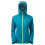 Montane Minimus Stretch Jacket WMS regnjakke, Minimus Stretch Jacket WMS regnjakke, Zanskar Blue/Wild Lime