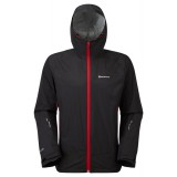 Montane Atomic Jacket regnjakke, Atomic Jacket regnjakke, Black/Alpine Red