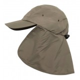 Me°ru' Cap with Neck Flap kasket, Cap with Neck Flap kasket, Olive