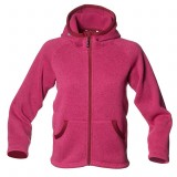 Isbjörn RIB Sweater Hood Jr børnefleece, RIB Sweater Hood Jr børnefleece, Fuschia