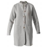 Holebrook Helene Coat dametrøje, Helene Coat dametrøje, Light Grey Melange