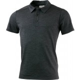 Lundhags Merino Light Polo Tee herrepolo, Merino Light Polo Tee herrepolo, Grey Melange