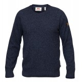 Fjällräven Övik Re-Wool Sweater herresweater, Övik Re-Wool Sweater herresweater, Dark Navy