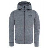 The North Face SLACKER HOODIE BOYS drengefleece, SLACKER HOODIE BOYS drengefleece, TNF MEDIUM GREY HEATHER