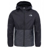 The North Face WARM STORM JACKET BOY'S regnjakke, WARM STORM JACKET BOY'S regnjakke, Tnf Black