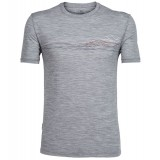 Icebreaker Tech Lite SS Crewe Waterline Men herre-T-shirt, Tech Lite SS Crewe Waterline Men herre-T-shirt, Metro HTHR