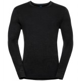 Odlo Shirt l/s crew neck NATURAL 100% MERINO bluse, Shirt l/s crew neck NATURAL 100% MERINO bluse, Black