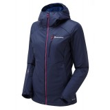 Montane HYDROGEN DIRECT JACKET FEMALE damejakke, HYDROGEN DIRECT JACKET FEMALE damejakke, Antarctic Blue/French Berry