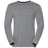 Odlo Shirt l/s crew neck NATURAL 100% MERINO bluse, Shirt l/s crew neck NATURAL 100% MERINO bluse, Grey Melange - Black