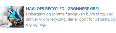 Eventyrsport blog - Haglöfs recycled - grønnere grej