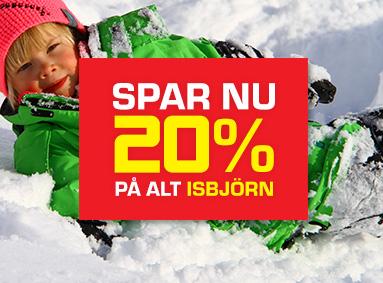 Spar 20% på alt Isbjörn Eventyrsport Webshop