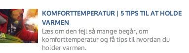 Eventyrsport blog - Komforttemperatur i soveposer, tips til at holde varmen, EN 13537