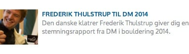 Læs Frederik Thulstrups rapport fra DM i bouldering